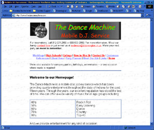 Web Development Portfolio - The Dance Machine Disc Jockey Service