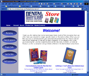 Web Development Portfolio - Dental Boot Kamp Store