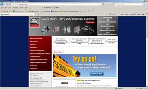 Web Development Portfolio - Delco Remy Heavy Duty Electrical Systems