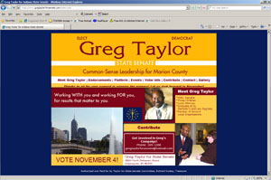 Web Development Portfolio - Greg Taylor for Senate