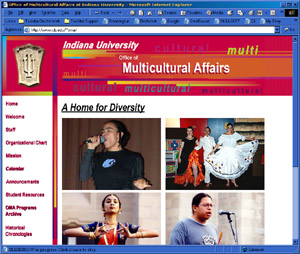 Web Development Portfolio - Indiana University Office of Multicultural Affairs
